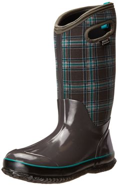 Bogs Women's Classic Winter Plaid Tall Snow Boot * To view further for this item, visit the image link.
