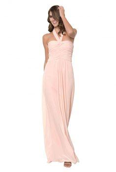 272b85a461 Monique Lhuillier  Jordan  convertible bridesmaid dress. Available in  Blush