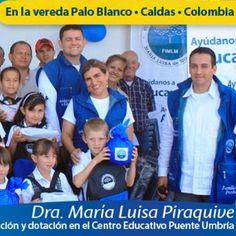 Dra. @MLPiraquive entrega tercera adecuación y dotación de centro educativo. #EducaciónDigna.