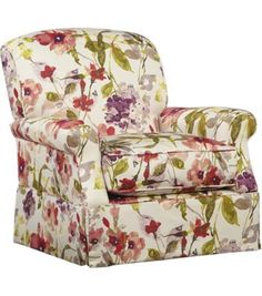 We love the #retro look and feel of this #havertys Veranda Accent Chair, especially because of it's #floral pattern!