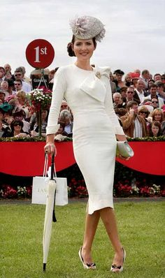 Annmarie O'Leary's part Marilyn Monroe, part Victoria Beckham outfit helped her win the Most Stylish Lady award. Photo: Frank McGrath