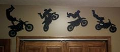 motorcycle trick silhouettes for a boys rooms Boy Sports Bedroom, Boy Room, Silhouettes, Rooms, Motorcycle, Home Decor, Bedrooms, Decoration Home, Room Decor