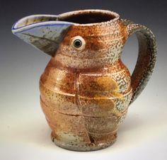 Soda-fired Jugbird  GILLIAN McMillan Earthenware, Stoneware, Ceramic Pottery, Soda, Fire, Ceramics, Home Decor, Ceramica, Beverage