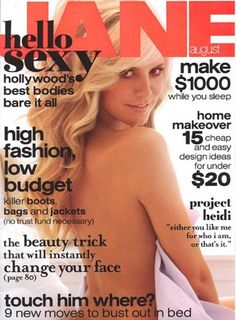 Kate Walsh in Shape, Lindsay Lohan in Playbody, Demi Moore in Vanity Fair & More Nude Magazine Covers Hello August, Kate Walsh, Demi Moore, Lindsay Lohan, Blonde Women, Cover Model, Sexy Poses, Heidi Klum, Strike A Pose