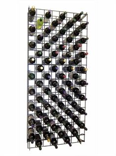 Wine Cellar Innovations Black Metal Lattice Wine Rack Single or Double Deep