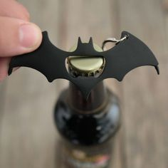 Batman logo shaped multi tool Includes bottle opener, crosshead screwdriver & flathead screwdriver Includes keyring Approximate size 11 x Officially licensed DC Comics merchandise Diy Home Accessories, Decorative Accessories, Decorative Items, Keychain Multitool, Bottle Opener Keychain, Bottle Openers, Beer Bottle Opener, Logo Shapes, Diy Accessoires