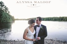 A bride and groom celebrating in private by Lily Lake, behind the Noyes Museum #museumwedding #lilylake Photo by: www.alyssamaloof.com