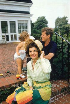 JFK, Jackie and Caroline Kennedy in Hyannis Port - 1950s Mark Shaw
