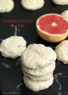 Grapefruit Ricotta Cookies | A Sweet Baker