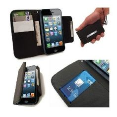 AceABove Wallet Case for iPhone 5, All-in-one iPhone 5 Case and Wallet, Black,$7.95