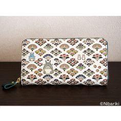 "Handpainted leather ""My Neighbor Totoro"" Japanese wallet by Bunko-ya Ozeki"