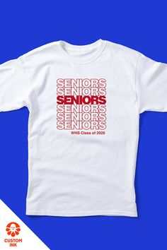 Get high marks using one of over 700 of our professionally designed school templates. Our customizable design templates make it easy to kickstart your senior class shirt idea. Senior Sweatshirts, Senior Class Shirts, School Spirit Shirts, School Shirts, Senior Jackets, School Template, Senior Year Of High School, Aesthetic Shirts, Slogan Tshirt