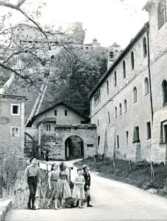 On the set of The Sound of Music. Nonnberg Abbey in Salzburg, where the original (and movie) Maria lived before coming to the von Trapp family.