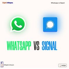 Which one do you prefer? #whatsapp #signal #whatsappvssignal Social Media Marketing, Digital, Business, Store, Business Illustration