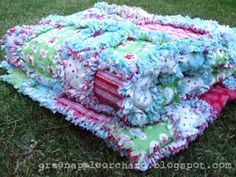 Green Apple Orchard: rag quilts