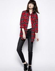 Enlarge Pop Boutique Check Flannel Shirt