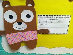 November 6th - Bears Bear in Underwear craft