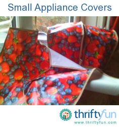 How To Make Small Kitchen Appliance Covers Using Kitchen Towels