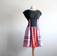Women's Black Dress Upcycled Clothing by BrokenGhostClothing, $78.00