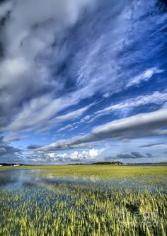 ✮ Lowcountry Flood Tide and Clouds