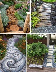 natural stone paths
