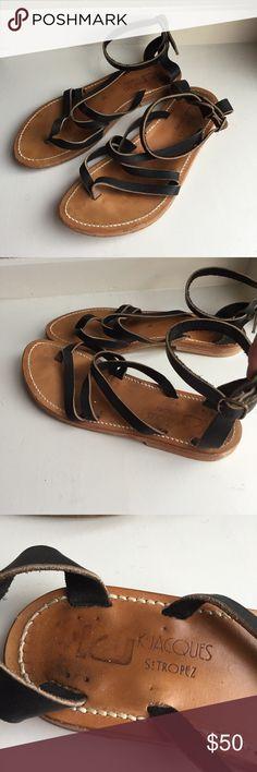 K Jacques St Tropez Epicure? Sandals Sz 39 Black Reference photos for wear. K. Jacques Shoes Sandals