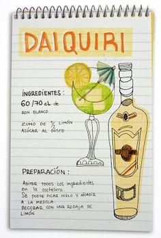 Receta cóctel Daiquiri - Descubre Catabox - Packs Gin Tonic y Vino - El regalo perfecto para los amantes de las cosas buenas y bonitas Liquor Drinks, Cocktail Drinks, Cold Drinks, Yummy Drinks, Alcoholic Drinks, Beverages, Daiquiri, Alcohol Recipes, Wine And Beer