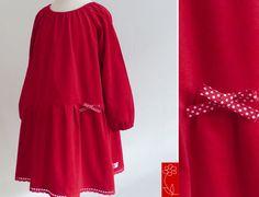 """Festtagskleid """"Inga"""" - Feincord - langarm  von  katharina-meintke-kids - Lieblingssachen für Kinder auf DaWanda.com"""