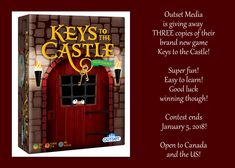 Outset Media – Keys to the Castle! ~Giveaway x 3 Latest Gadgets, News Games, Giveaways, Keys, Castle, Neon Signs, My Love, Fun, Unique Key