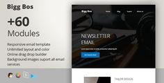 Big Boss - Responsive Email   StampReady Builder by PrimaDesign Big boss Responsive e-mail template designed for multipurpose bussines. Big boss is modern and minimalism, best to gain new clients or customers. It also have bunch of feature like stampReady e-mail template builder (drag n drop),