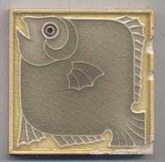 Super rare kleine Villeroy ?  Fisch  Jugendstil  Fliese  art  nouveau tile