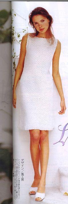 Cool white crochet dress…. see pattern
