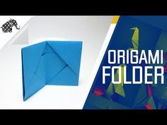 Origami - How To Make An Origami Folder / Wallet - YouTube