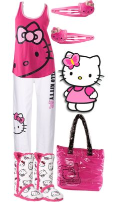 562713269adc A fashion look from December 2012 featuring Hello Kitty