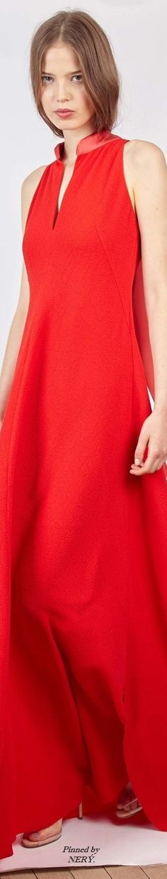 Alexis Mabille Resort 2017 Fashion Week 2016, Fashion 2017, Fashion Trends, Red Fashion, Fashion Outfits, Color Fashion, Women's Dresses, Dressed To The Nines, Alexis Mabille