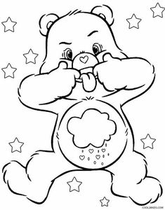 care bear coloring pages with numbers | Teddy Bear Check-up Coloring Page | Medical/Therapeutic ...