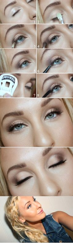Das richtige Augen Make Up für Ihre Augenformen – 12 goldene Tipps Augen natürlich schminken More from my sitejessica+alba Beauty Make-up, Beauty Hacks, Hair Beauty, Eye Makeup Tips, Skin Makeup, Makeup Ideas, Makeup Tutorials, Makeup Eyeshadow, Glow Makeup