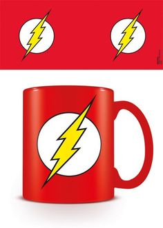 The Flash - DC Originals - The Flash Logo - Ceramic Coffee Mug. Dishwasher and microwave safe. Capacity: ca 11oz. Official Merchandise. FREE SHIPPING