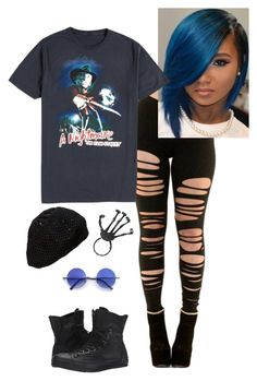 """""""Untitled #852"""" by ninfodora ❤ liked on Polyvore featuring Retrò, Converse, women's clothing, women's fashion, women, female, woman, misses, juniors and spoopy"""