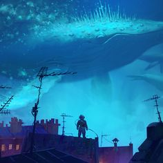 Whale Rider, Artur Sadlos on ArtStation at https://www.artstation.com/artwork/B2dm8