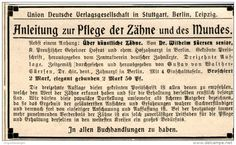 Original-Werbung/ Anzeige 1909 - ANLEITUNG ZUR PFLEGE DER ZÄHNE UND DES MUNDES-  ca. 90 x 55 mm