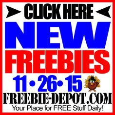 ►► NEW FREEBIE HOTLIST – FREE Stuff for November 26, 2015 ►► #Free, #FREEStuff, #Freebie, #HOTLIST, #Thanksgiving ►► Freebie-Depot