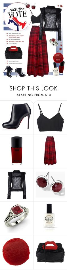 """""""Untitled #1157"""" by louise-stuart ❤ liked on Polyvore featuring Live the Process, MAC Cosmetics, Woolrich, Philosophy di Lorenzo Serafini, Ippolita, Diamondere, Lauren B. Beauty, Lipstick Queen and RED Valentino"""