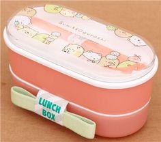 Fiambrera rosa caja bento animales tímidos Sumikkogurashi
