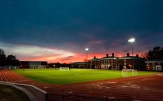 Sunset over Shellenberger Field, my school is prettier than your school