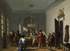 """The Billiard Room"" Taunay (Paris), 1808"