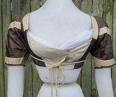 ORIGINAL EMPIRE PERIOD BALL GOWN BODICE c.1800