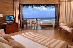 Ingenious Light Brown Bedroom Villa With Ocean View And TV