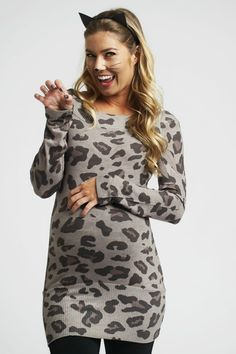 maternity leopard costume with pinkblushs animal print maternity top one of our fierce favorites this