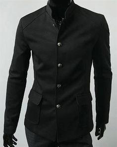 Fashion Street Black Full Sleeves Men - Coats